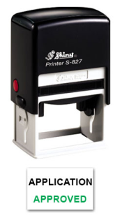 S-827 Two Color Stamp 7C