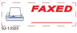 "2 Color ""Faxed"" <BR> Title Stamp"