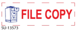 "2 Color ""File Copy"" <BR> Title Stamp"
