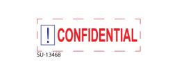 "SU-13468 - 2 Color ""Confidential"" <BR> Title Stamp"