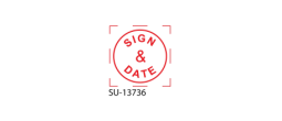 "SU-13736 - Small ""Sign & Date"" <BR> Title Stamp"
