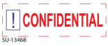 "SU-13468 - 2 Color ""Confidential"" <BR> Title Stamp"