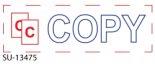 "SU-13475 - 2 Color ""Copy"" <BR> Title Stamp"