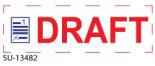 "SU-13482 - 2 Color ""Draft"" <BR> Title Stamp"