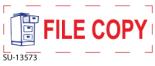"""SU-13573 - 2 Color """"File Copy"""" <BR> Title Stamp"""