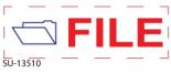 "SU-13510 - 2 Color ""File"" <BR> Title Stamp"