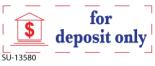"""SU-13580 - 2 Color """"For Deposit"""" <BR> Title Stamp"""