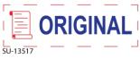 "SU-13517 - 2 Color ""Original"" <BR> Title Stamp"
