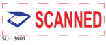 "SU-13601 - 2 Color ""Scanned"" <BR> Title Stamp"