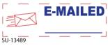 """SU-13489 - 2 Color """"E-Mailed"""" <BR> Title Stamp"""