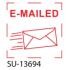 """SU-13694 - Small """"E-Mailed"""" <BR> Title Stamp"""