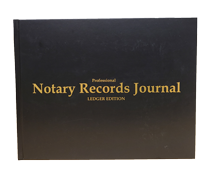 NRB-LGR-HC - Professional Notary Records Journal. Ledger Edition (California Style) Hard Cover