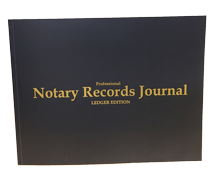 NRB-LGR - Professional Notary Records Journal Ledger Edition (California Style)