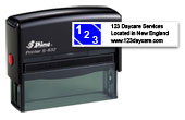 S-8327B - S-832 Two Color Stamp 7B